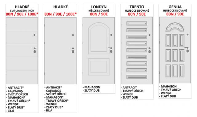 Bezpečnostní dveře do bytu Premium č.12