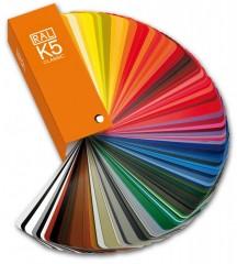 Paleta vzorníku barev RAL