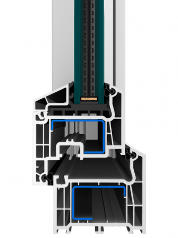 Profil EFEKT se stavební hloubkou 73 mm