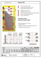 Technický list - bezpečnostní dveře Magnum