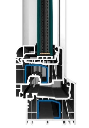 Profil OMEGA se stavební hloubkou 76 mm