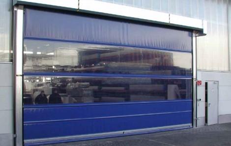 Rychloběžná průmyslová vrata - modrá