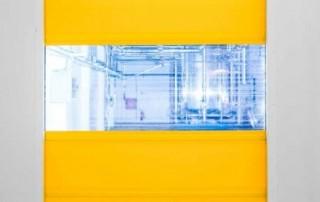 Rychloběžná průmyslová vrata - žlutá