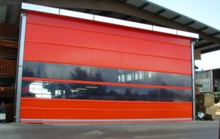 Rychloběžná průmyslová vrata - červená